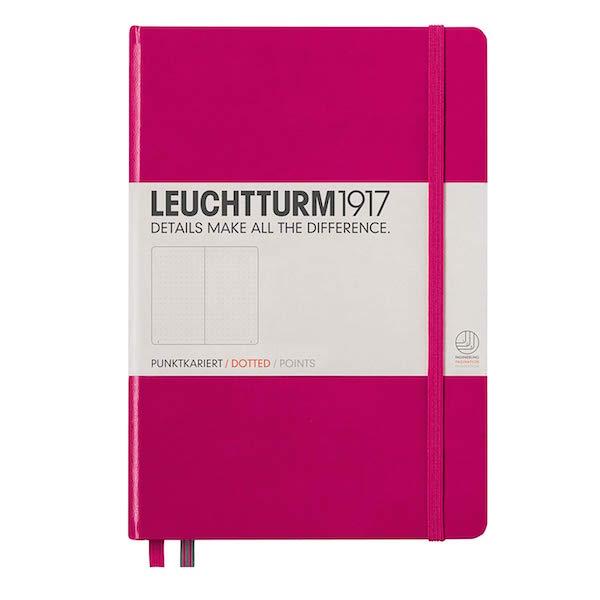 LEUCHTTURM / HARDOVER MEDIUM A5 DOTTED BULLET JOURNAL $19.95 - New year, new ideas, new goals, new projects.
