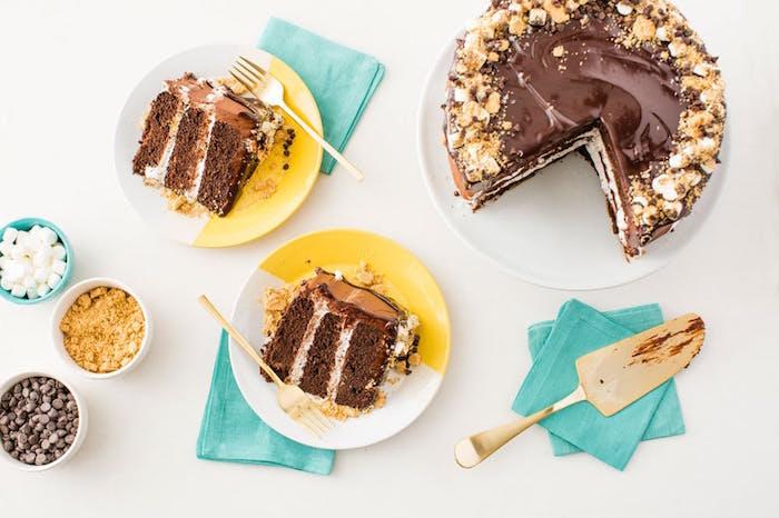 Nutella Smores Cake