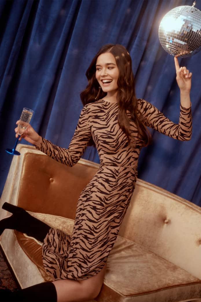 LAURA - Harvard grad, co-founded a start-up in NYC and she's a venture capital investor. Before that she was a model.Laura wears the Maurita Dress $218