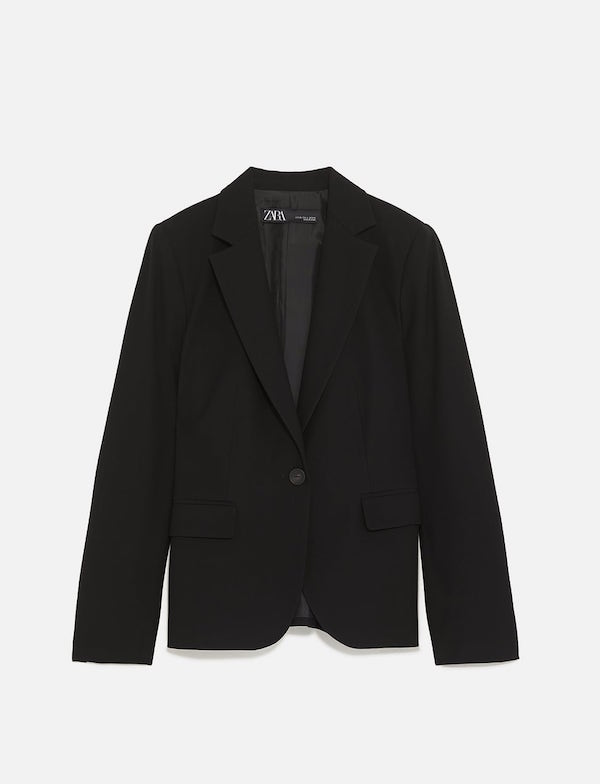 ZARA / BASIC LAPEL COLLAR BLAZER $49.90 -