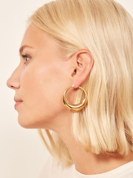 BAGATIBA / ORB HOOPS $160 - available at Reformation