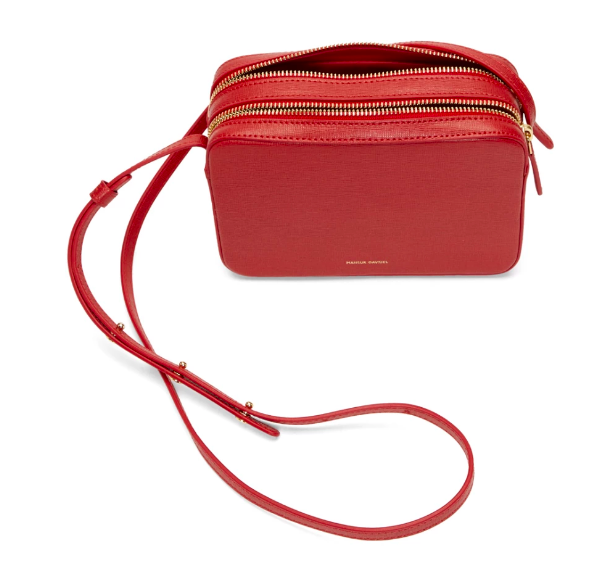 MANSUR GAVRIEL / DOUBLE ZIP CROSSBODY BAG $595 - available at SSENSE