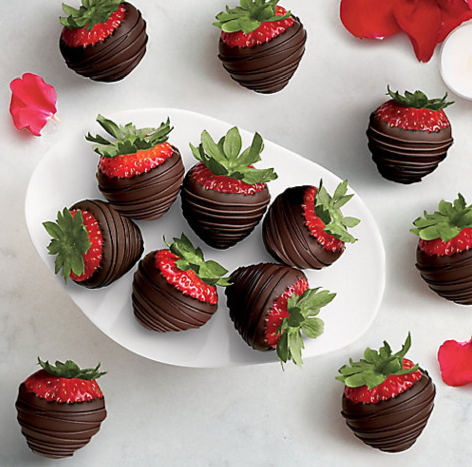 GODIVA / DARK CHOCOLATE COVERED STRAWBERRIES (DOZEN) $80 -
