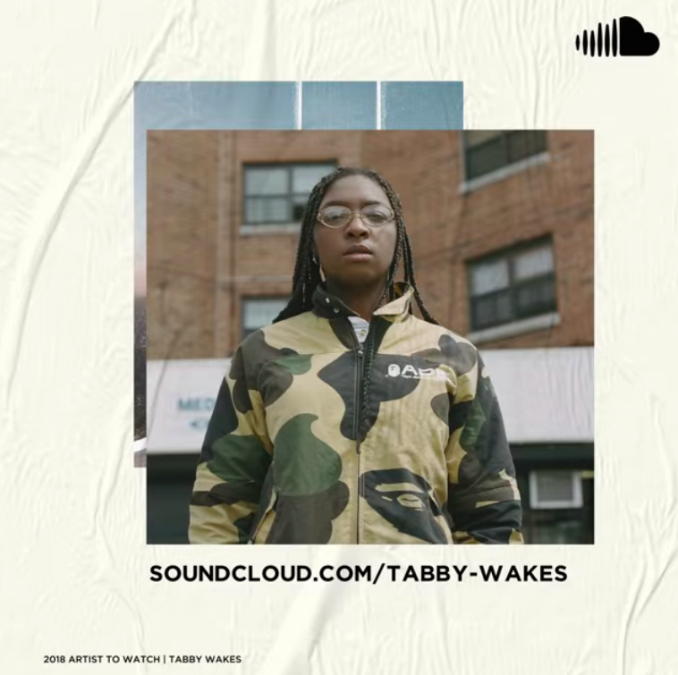 """TABBY WAKES - Fresh to the scene, 22 year old Tabby Wakes was on Soundcloud's Artist To Watch List for 2018. Her debut ep """"Tabby Night"""" is an exercise in cynical exuberance. It's a party anthem that makes you want to pop a bottle, smash your head through a painting or break a guitar."""