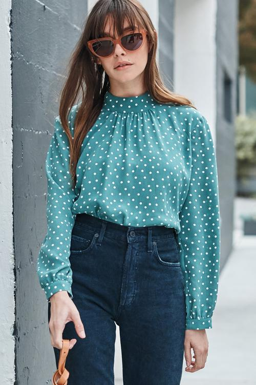Jeanne silk blouse by Amour Vert