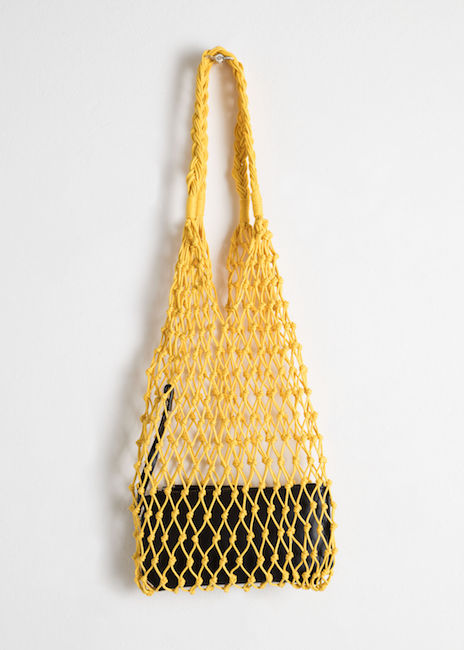 & OTHER STORIES / WOVEN NET BAG $59 -