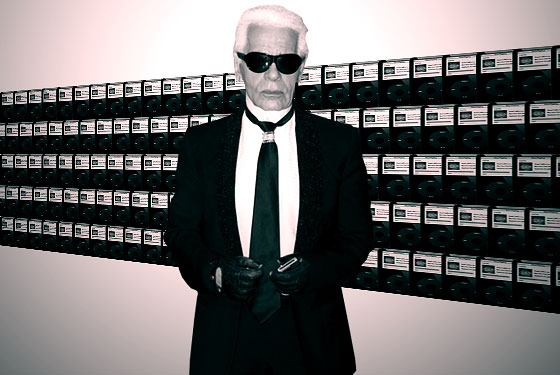 Karl Lagerfeld and is 300 iPods