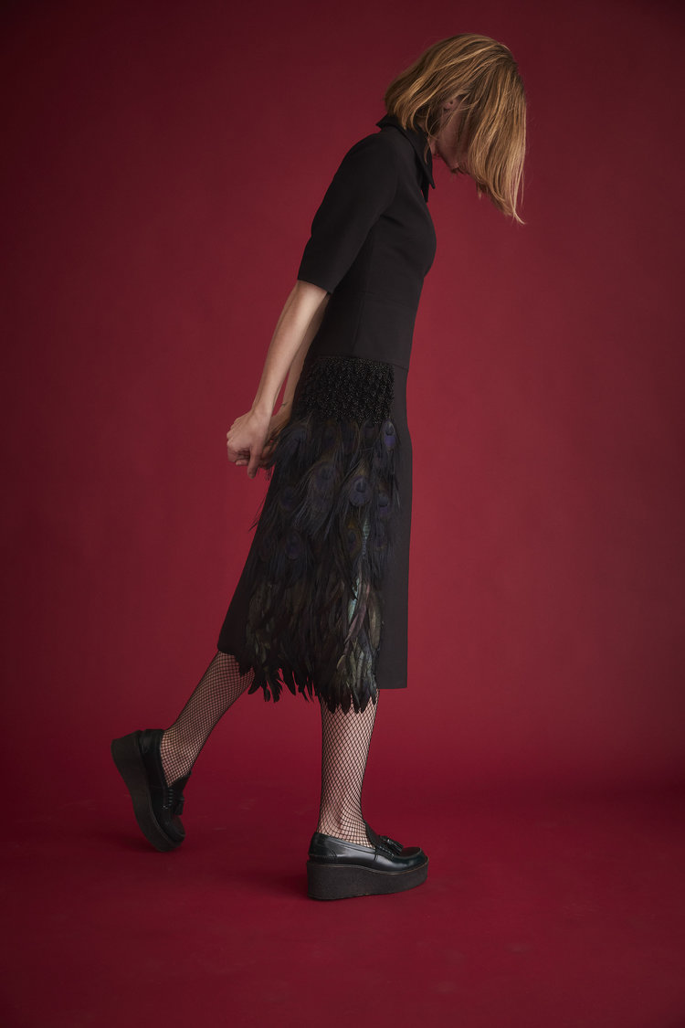 Duncan peacock feather dress  //   DNAMAG
