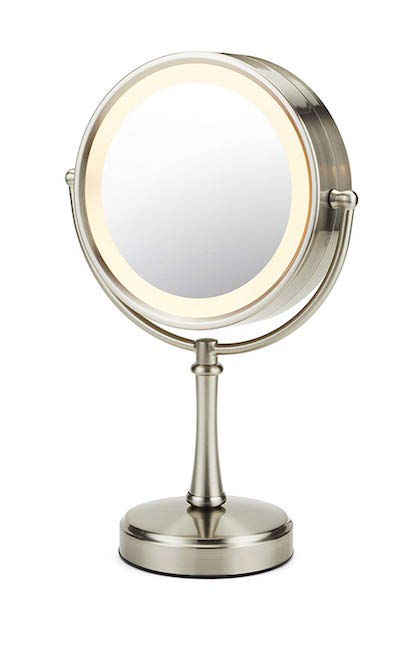 CONAIR / 3-WAY TOUCH CONTROL DOUBLE SIDED LIGHTED MAKEUP MIRROR $39 -