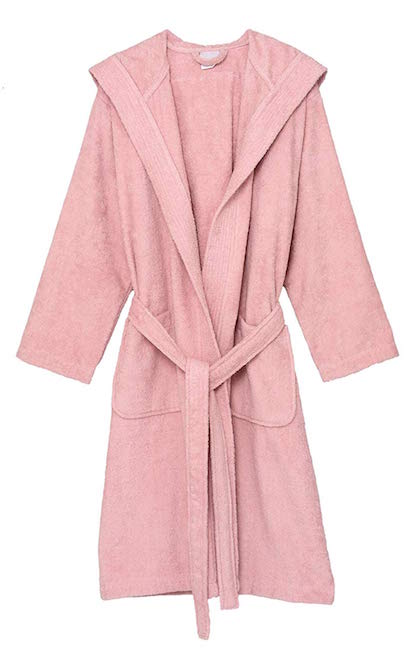 TOWELSELECTION / COTTON TERRY CLOTH HOODED BATHROBE $36.95 -