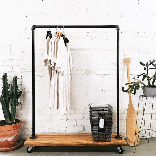 FOF / INDUSTRIAL PIPE CLOTHING RACK $138 -