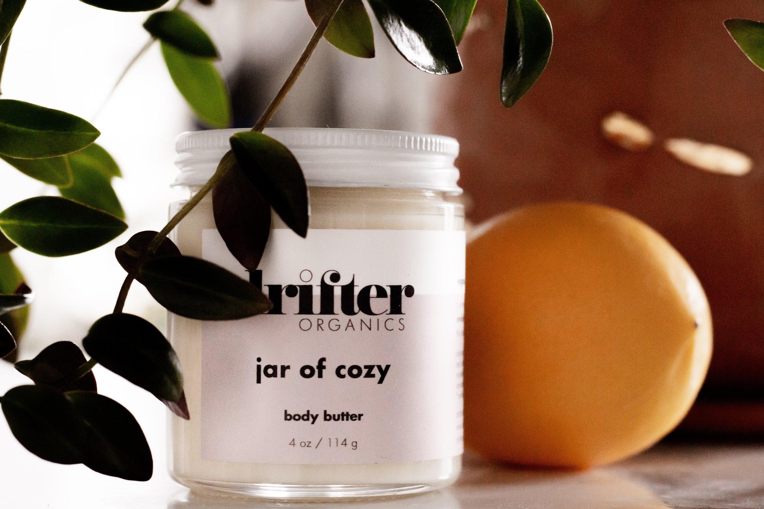 Drifter Organics jar of cozy body butter
