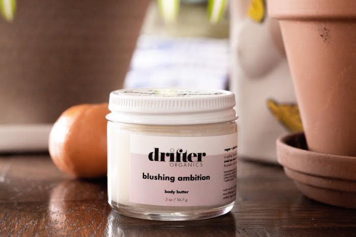 Drifter Organics blushing ambition body butter