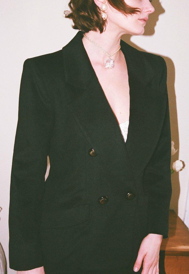 Vintage Yves Saint Laurent cashmere angora blazer