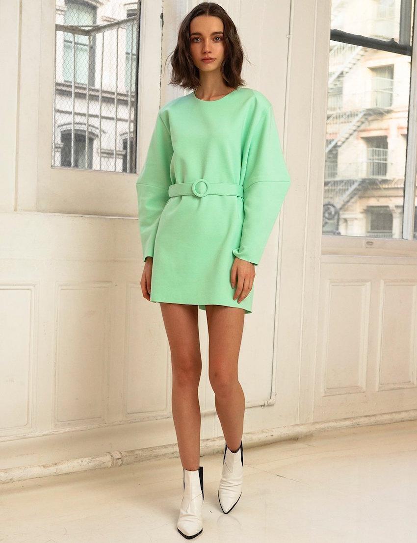Pixie Market mint belted dress