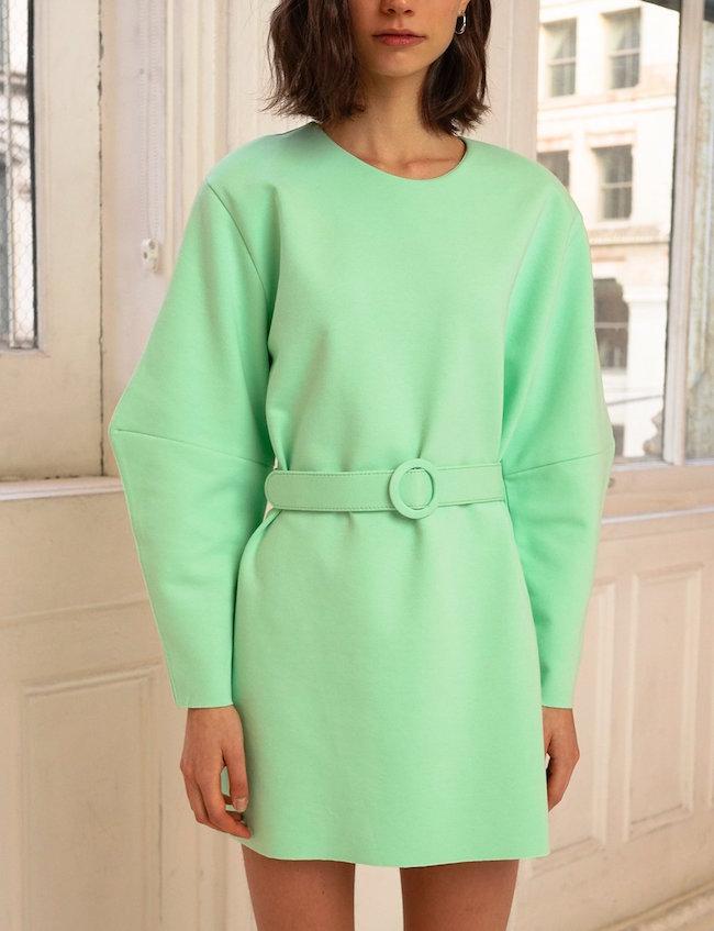PIXIE MARKET / MINT BELTED DRESS $118 -