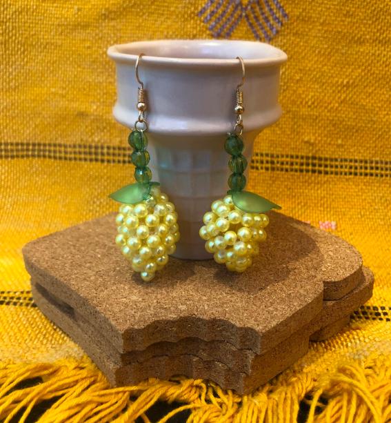 Susan Alexandria 'lemon meringue earrings'