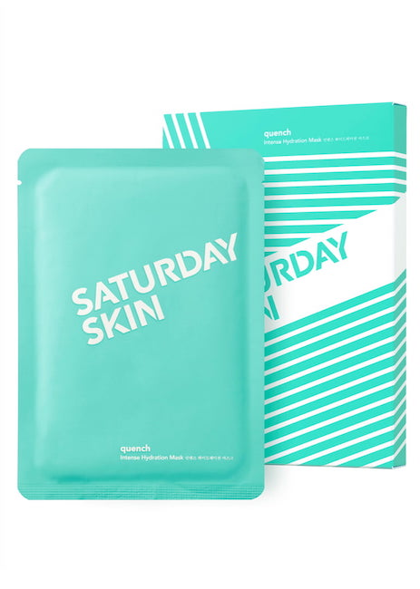 SATURDAY SKIN / QUENCH SET OF 5 INTENSE HYDRATING SHEET MASKS $30 -