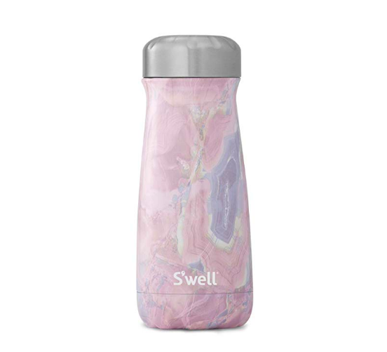 S'WELL / 16 OZ TRAVELER BOTTLE IN GEODE ROSE $32 - available at Amazon