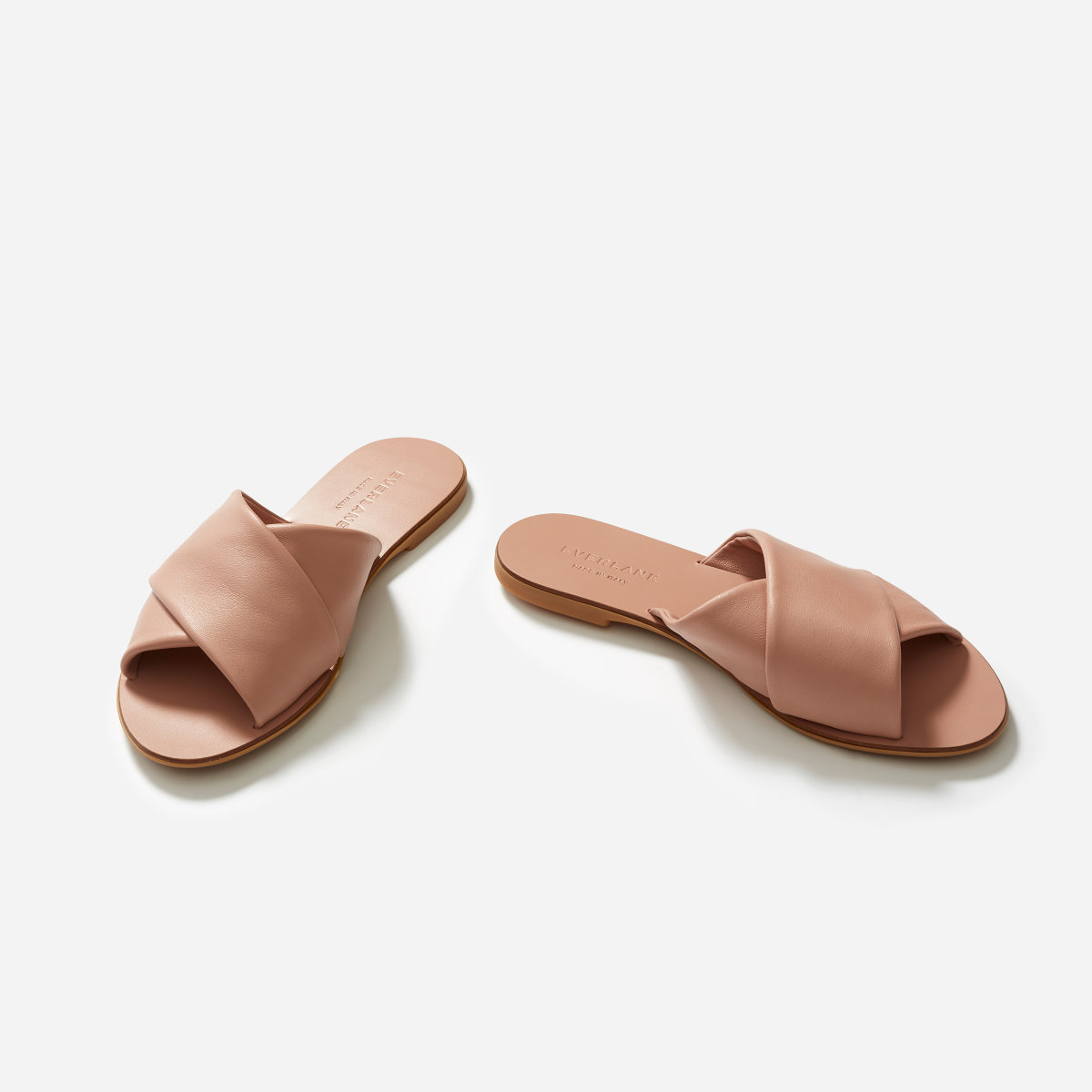 THE DAY CROSSOVER SANDALS IN ROSE $88 -
