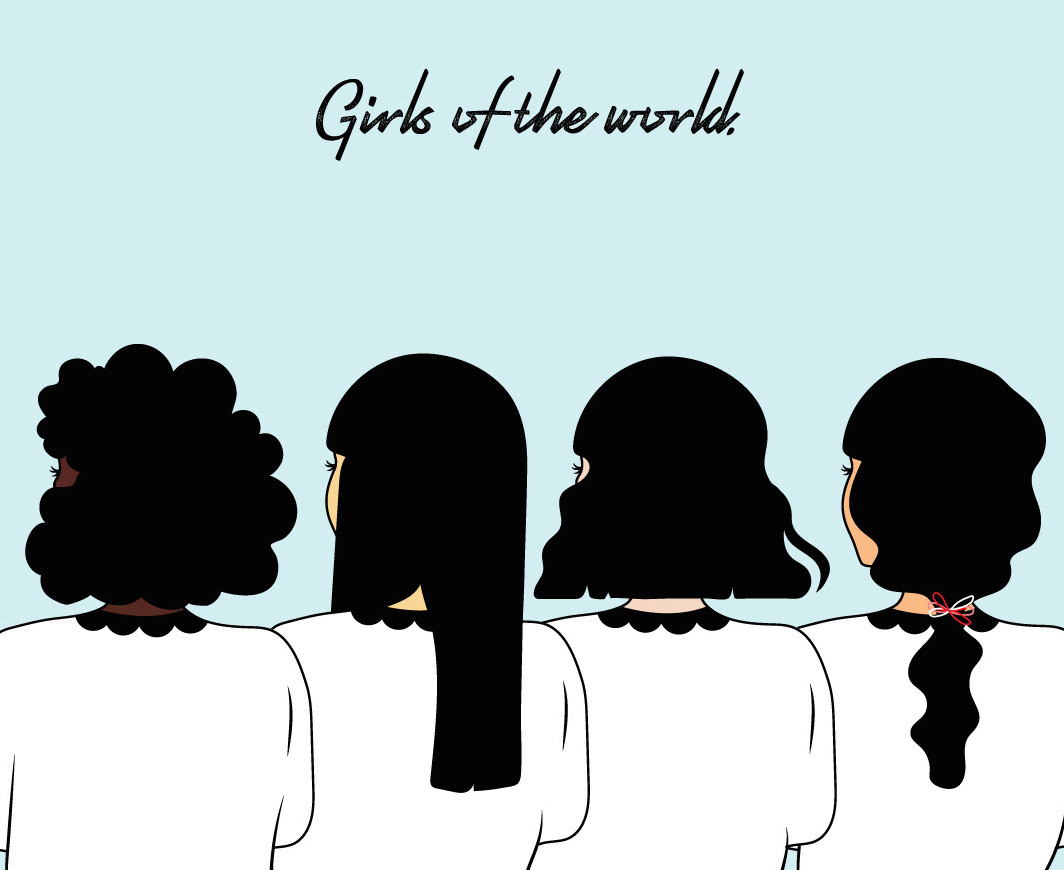 """"""" Girls of the world is a personal, ongoing project that insures inclusivity of my work. It's a way of getting myself to practise drawing people other than myself. """""""