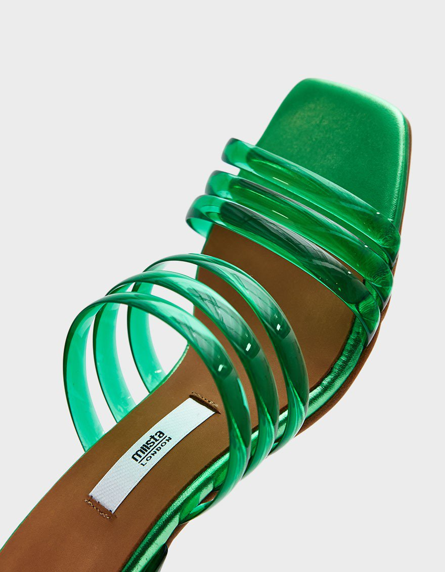 MIISTA / HELENA VINYL SANDALS $335 - You're having one of those summers that your grandmother would say as having your dance card full. The right pair of dancing shoes will make you the Cinderella of the ball, or the wedding, the birthday party and the after-party.