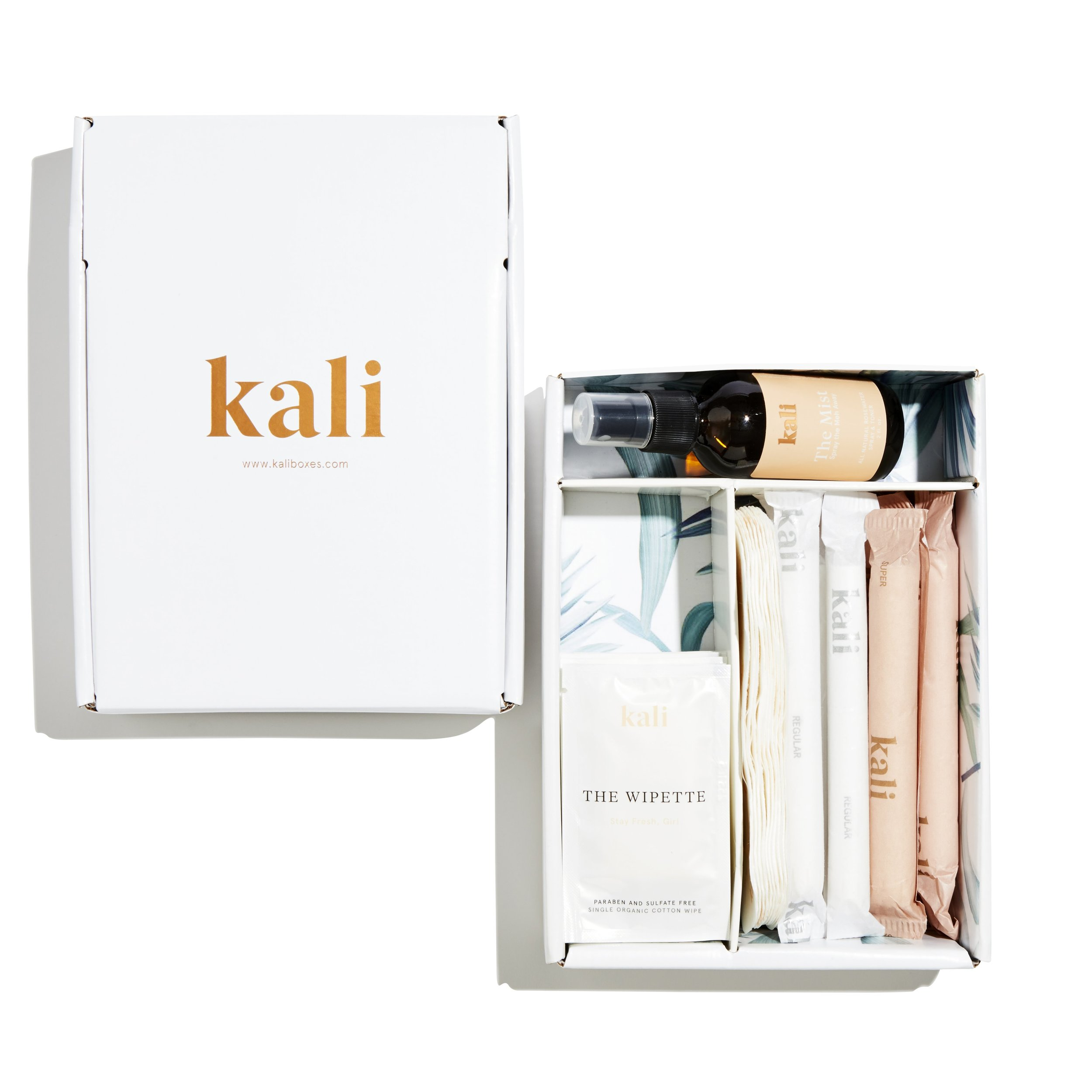 KALI - Jonna Piira founded Kali on the idea that we need tampons and pads every month like clockwork and never have one when we need one. Kali focuses on organic feminine hygiene products and building a wellness community focused on overall health. You can custom design your subscription box to include tampons, pads and essential feminine care add-ons. Kali does a good job in educating the on the importance of health and wellness of a woman's menstrual life.