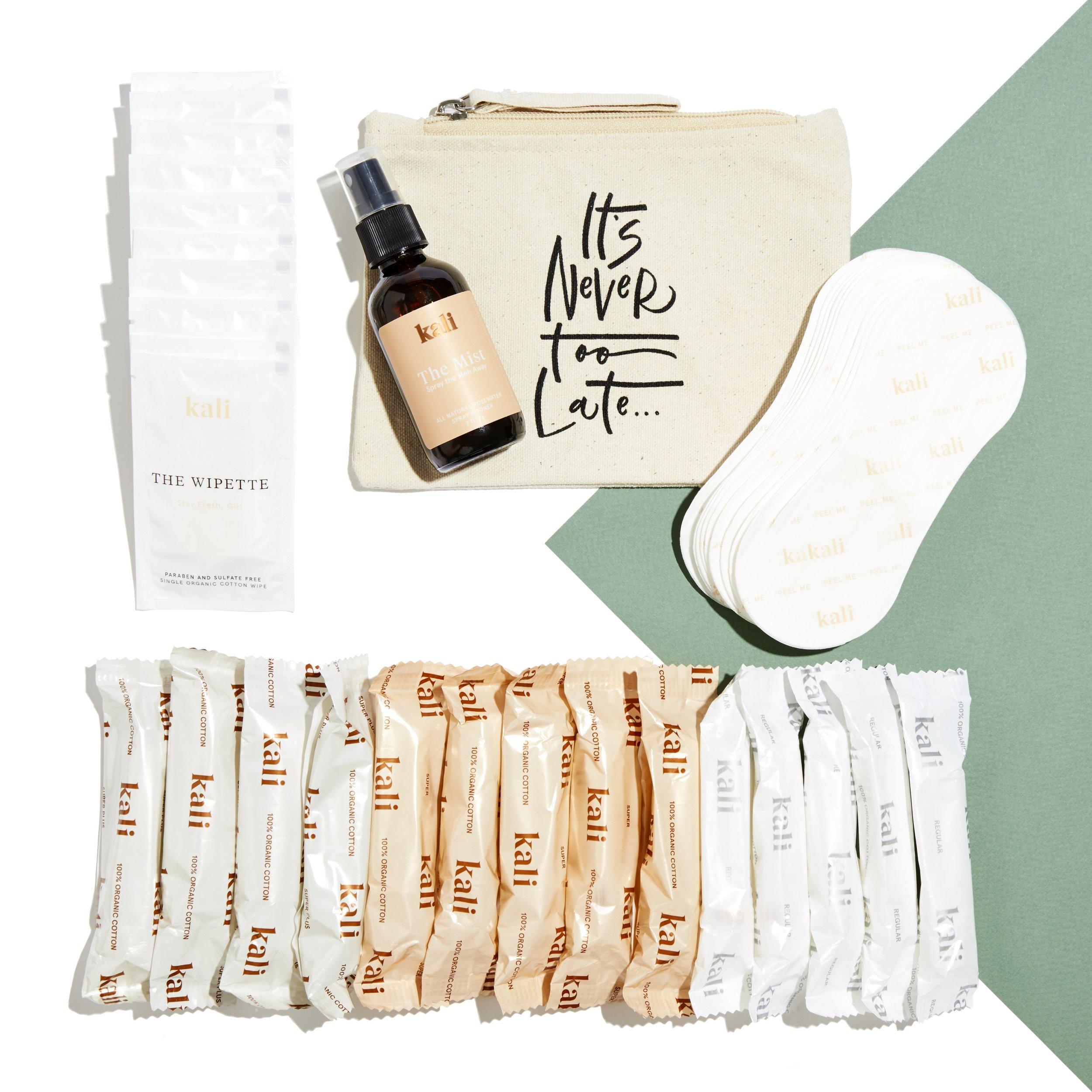 Kali Lux plastic organic tampon box