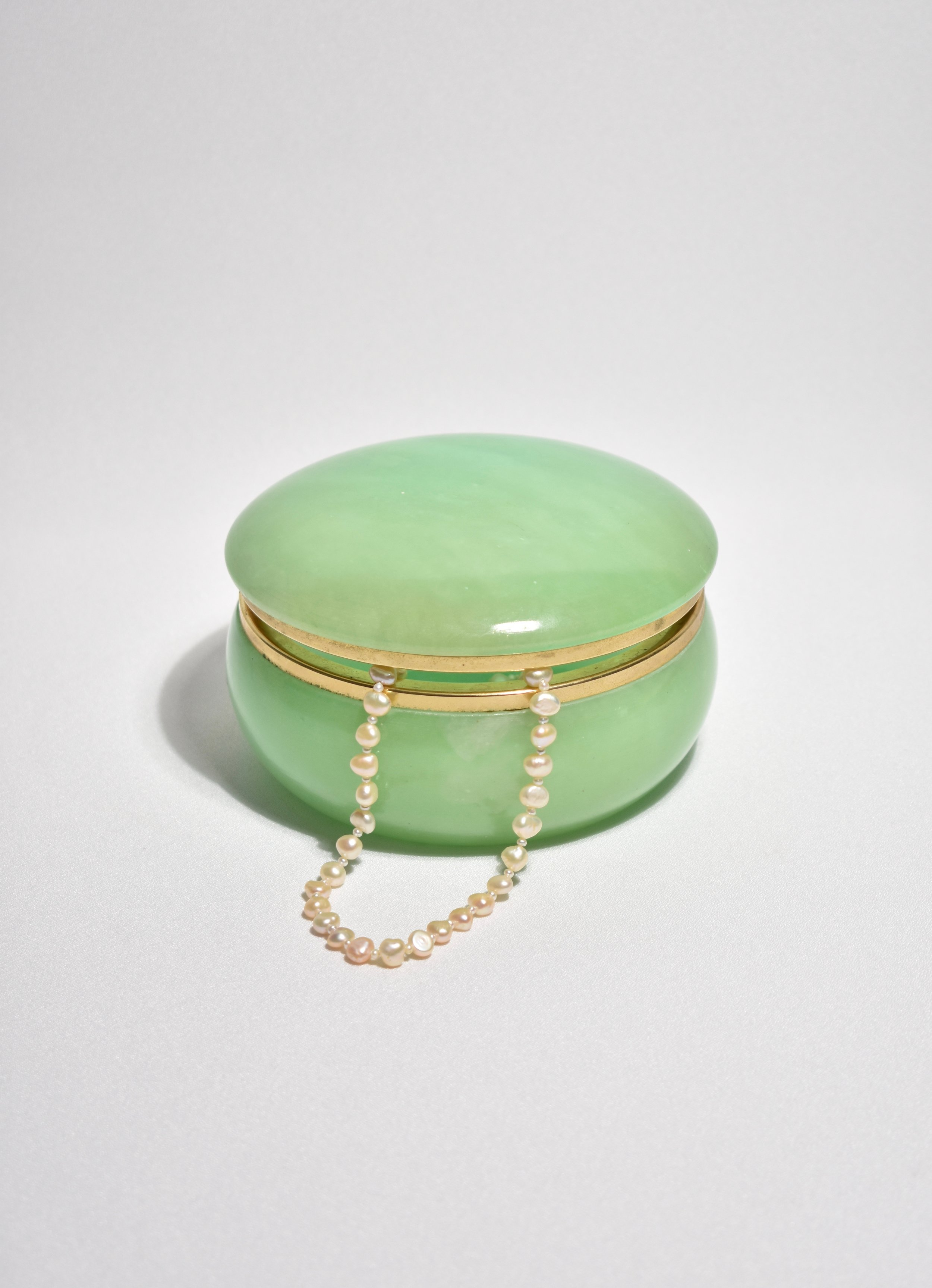 Casa Shop - Green Alabaster Jewelry Box
