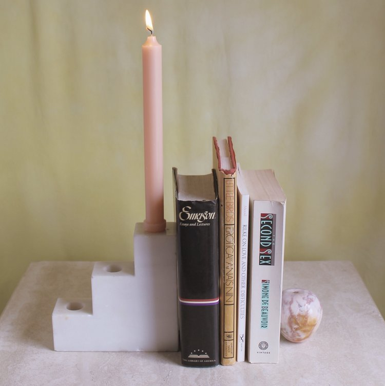 Stone staircase candle holder by Summer School