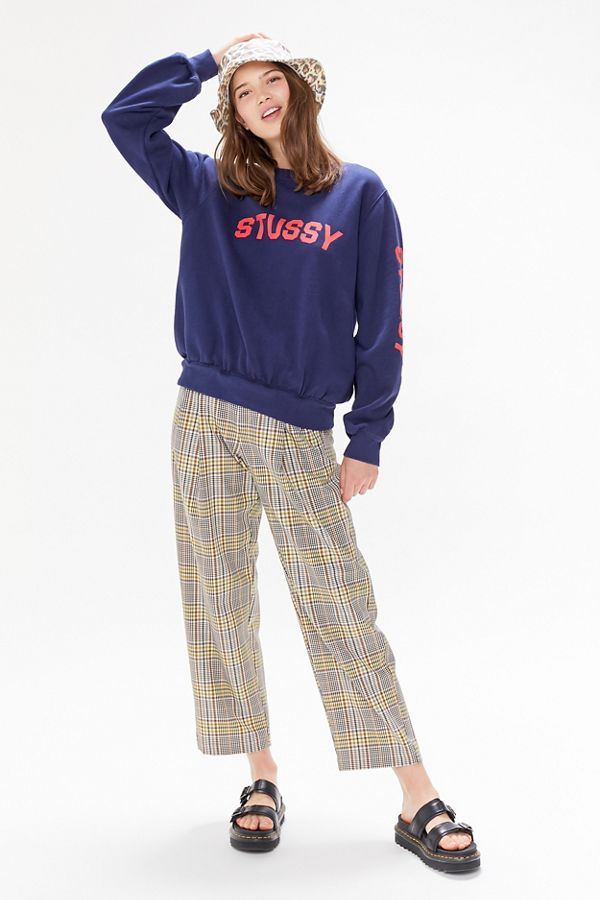 STUSSY / REPEAT FLEECE CREWNECK SWEATSHIRT $80 - Summer is no place or time for a hoodie, so thank them nicely and fold it away until Fall. Instead, the one sweatshirt you need on hand is hoodie-less. The essential crewneck that can be tossed in your straw tote or tied around the waist (in case of emergency).