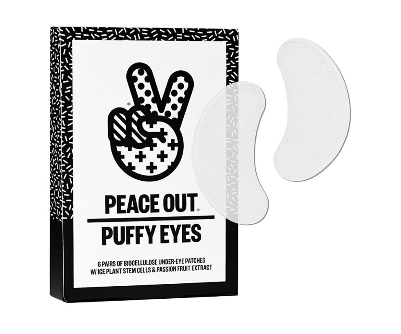 - To avoid the inevitable dark undereye circles we all get after flying, the Peace Out Puffy Eyes ($25) eye patches will do the trick. Hop off the plane looking like you got a full night's sleep. The packaging of these under eye patches is perfect for travel: a small little paper container with individually packaged patches. Not only are they extremely hydrating, but the leftover serum can be rubbed on the face for an extra refreshing feeling.