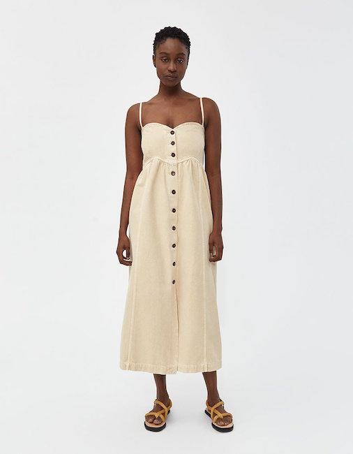 NANUSHKA / KAIA BUTTON DRESS - WAS $410, NOW $204.99