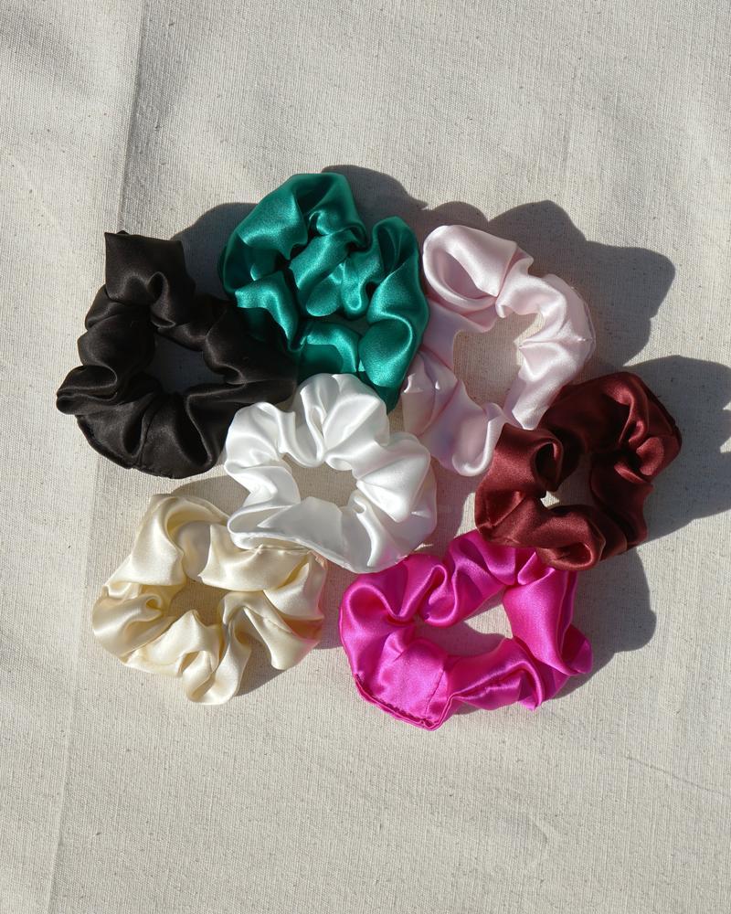 Silk Satin Scrunchies by Cloud Hunter