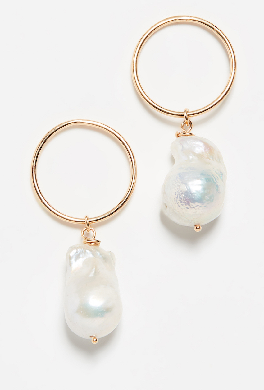 MAISON IREM / FRESHWATER CULTURED PEARL EARRINGS $170 - These days you want to be a more sophisticated version of yourself. A little taste of grown-up, something reminiscent of when you used to play dress-up out of your mother's jewelry box.