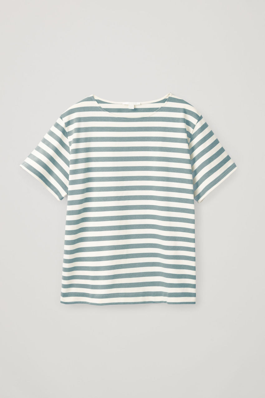 COS x PARSONS / STRIPED BOAT NECK T-SHIRT $45 - It is impossible to have too many striped shirts in your wardrobe. One shouldn't be enough. The variety of striped colors should overflow and for some this becomes their signature. This one is extra special, designed in collaboration with Parsons School of Design.