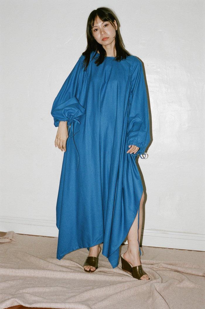 Baserange - Honda Dress in aster blue
