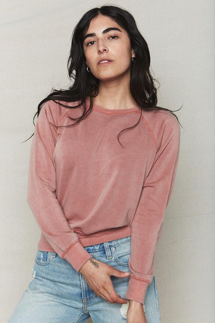 Sienna Tencel Crop Sweatshirt by Back Beat Rags