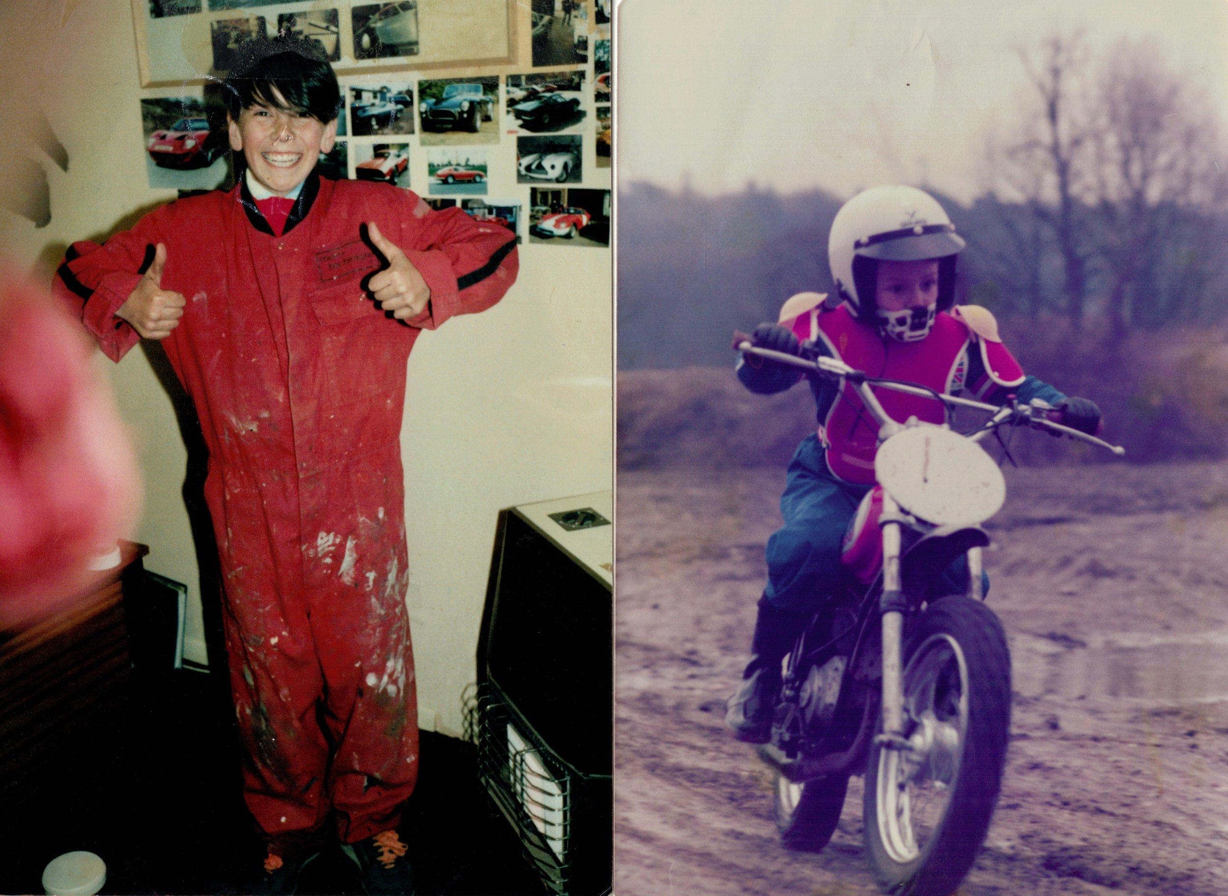 """you'll grow into those son"".                    First dirt bike, Italjet 50 circa 1978."