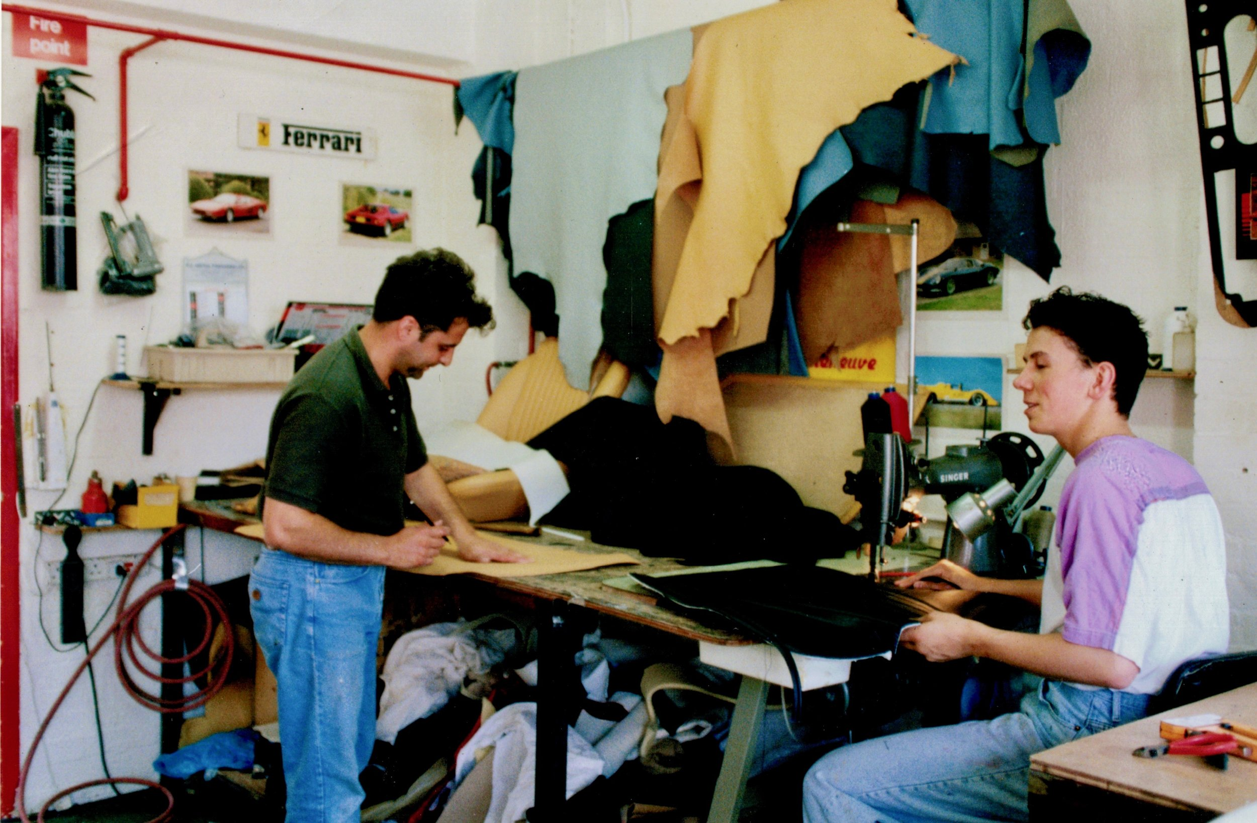 Nick and Rorky in their snug trim shop.