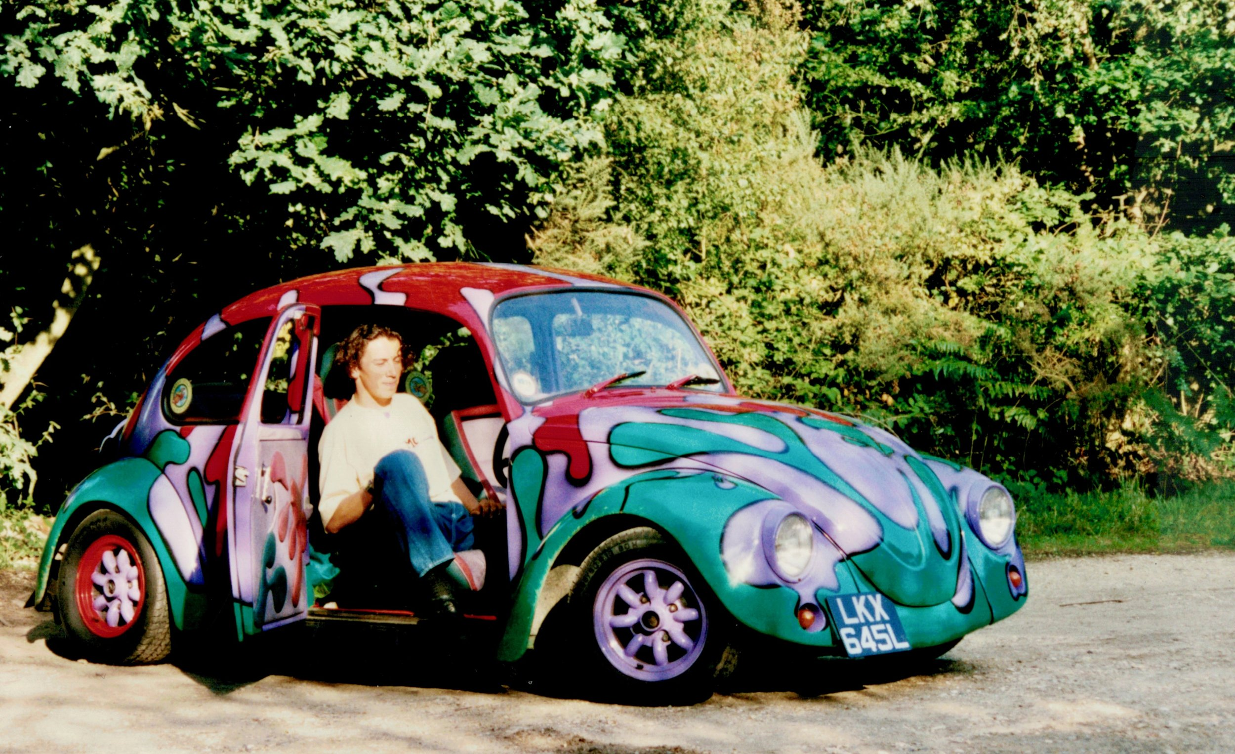He missed the 60's so re-lived them in 1992, by building and painting this one himself!