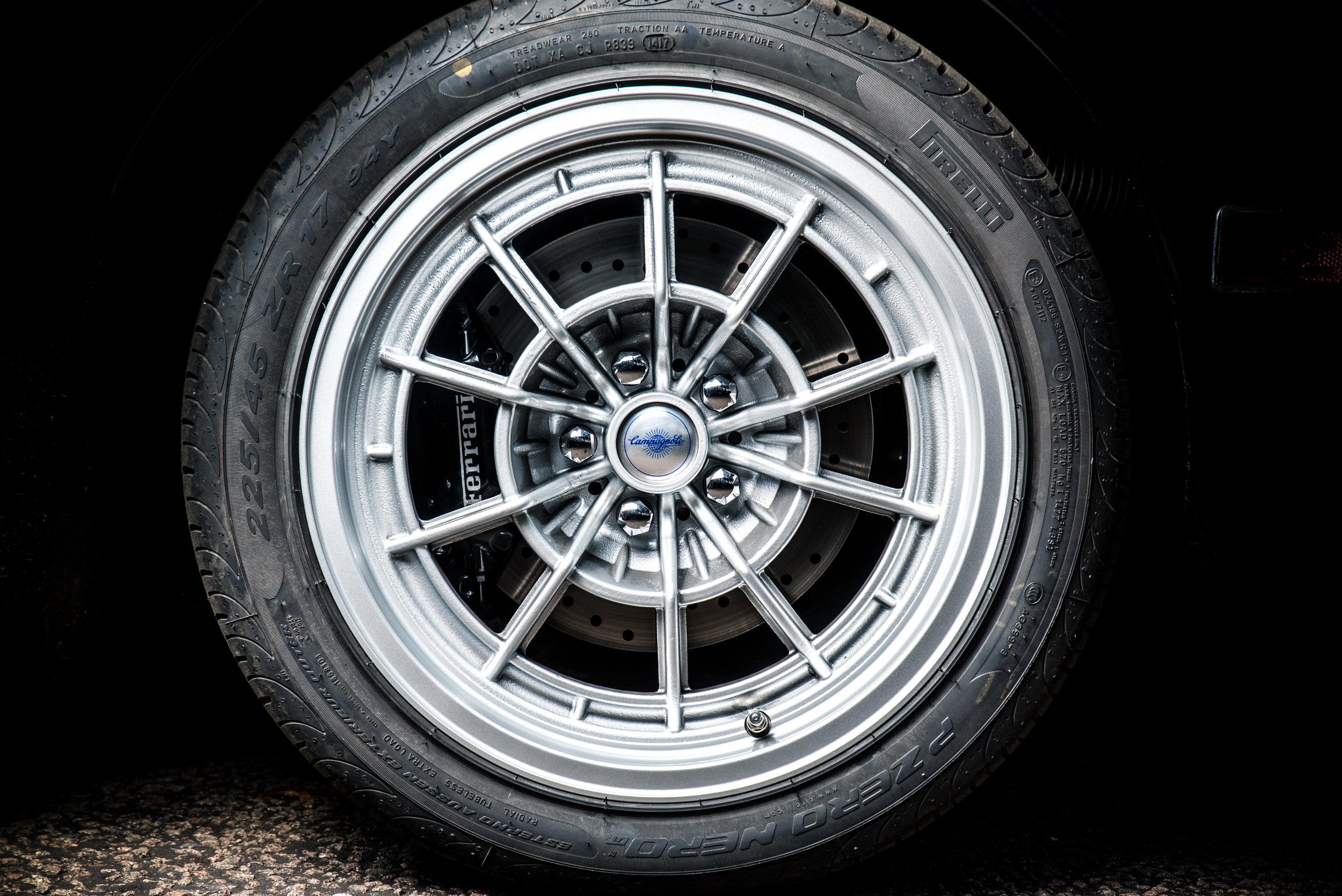"17"" Custom Campagnolo style wheels to house those massive Ferrari 360 brakes.  Photo by Jayson Fong."