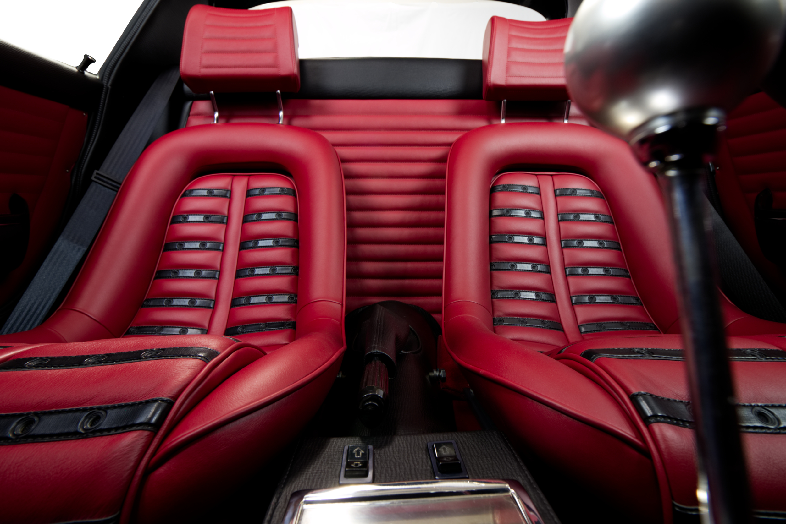 Iconic Daytona style seats.  Photo by AJ Pink.