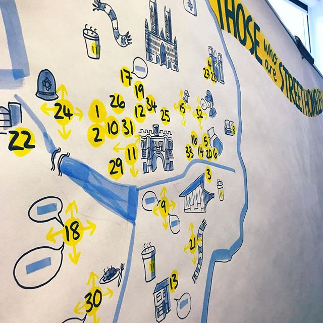 Drawing maps, plotting services and capturing conversations. All part of seeing the big picture. ✏️✏️✏️ #visualthinking #graphicrecording #bigpicture #graphicchange #livescribe #lovemyjob