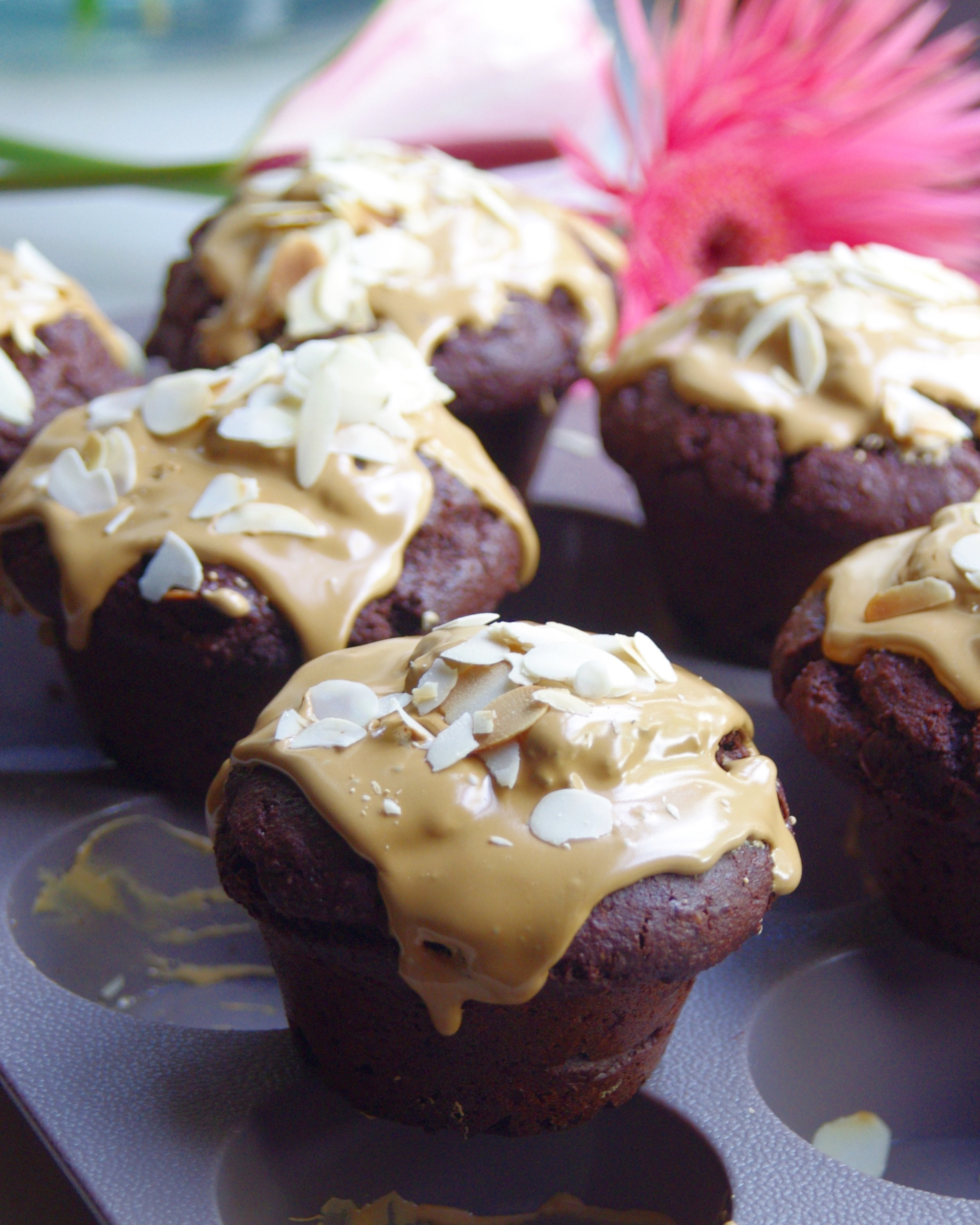 Gluten free, vegan, organic Dominican cacao muffin