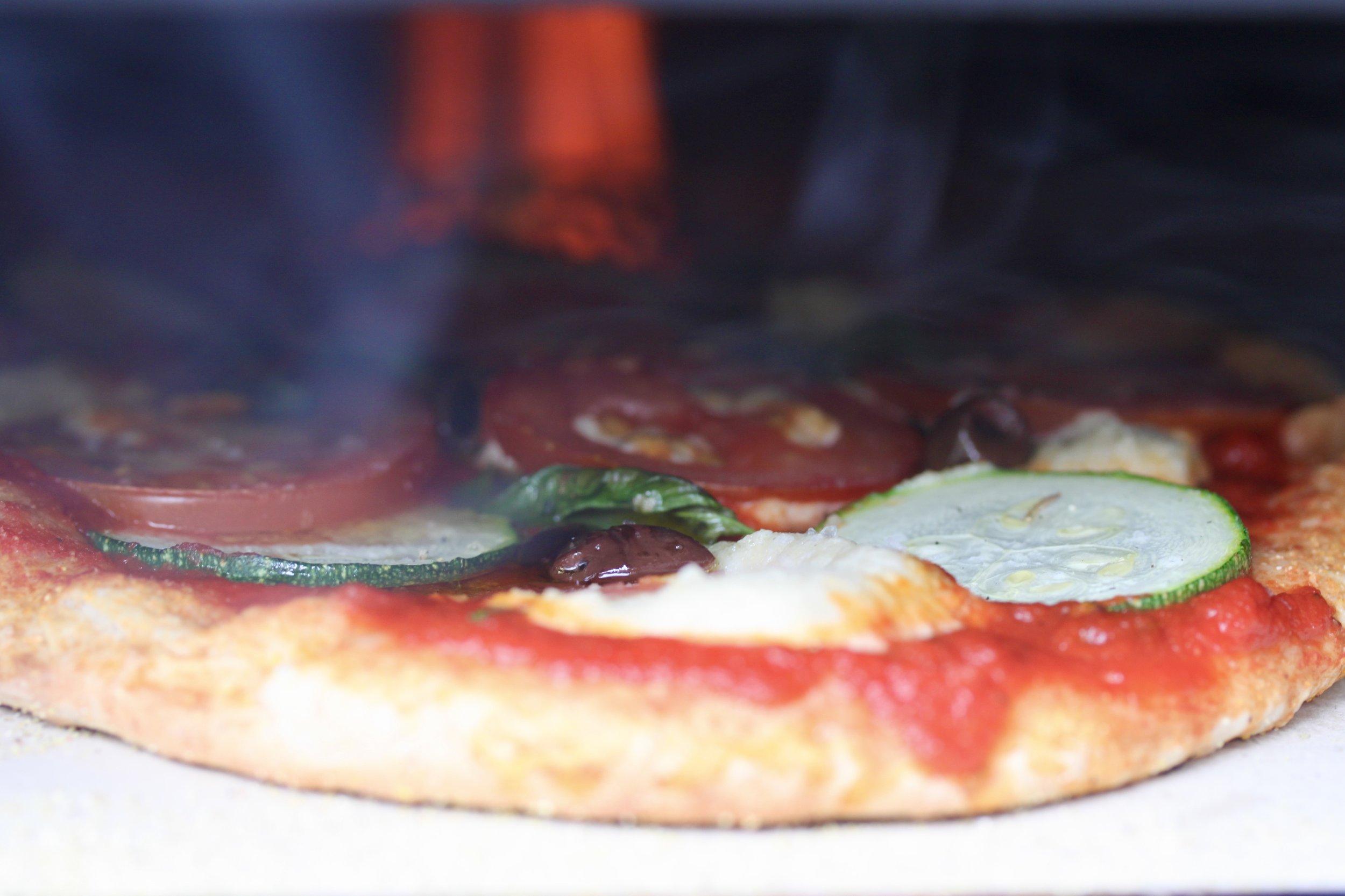 自家製カシューチーズでヴィーガンピッツァ