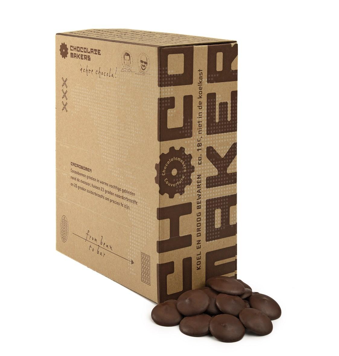 クリオロ種カカオ豆80%、ペルー産、オーガニッククーベルチュール、ダークチョコレート 2kg
