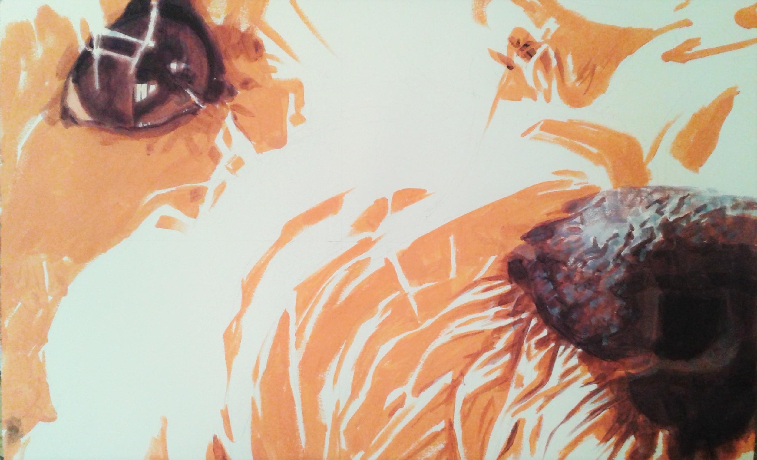 acrylic on paper  59cm x 42cm