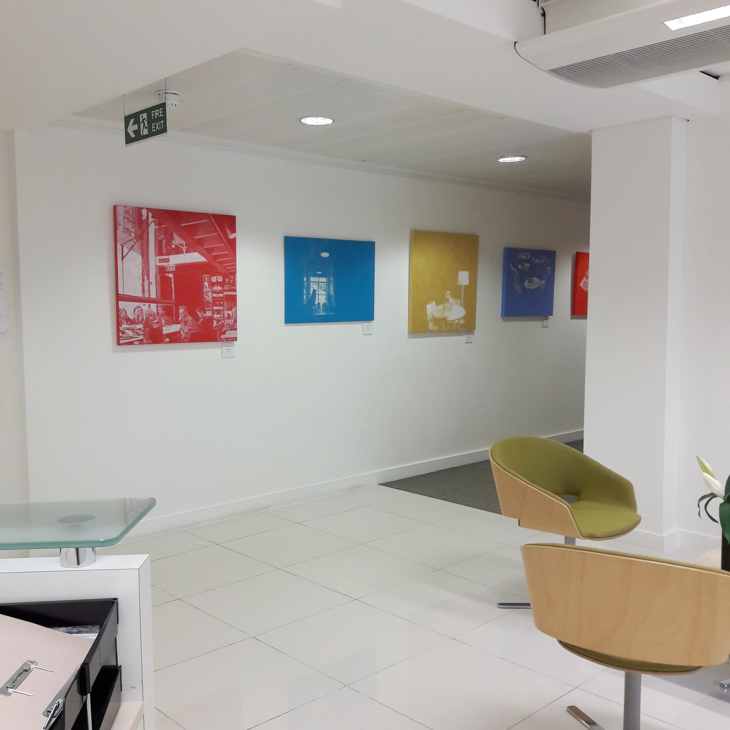 a view from reception desk at Simkins LLP
