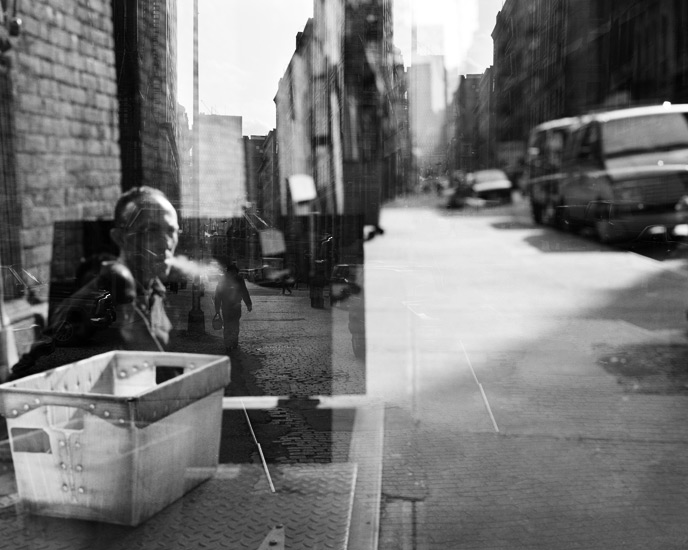 Man and Cigarette Smoke